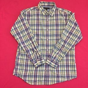 Modern Banana Republic Plaid Button-Up Shirt.